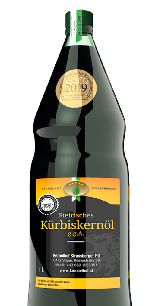 Kernölhof Strassberger's prämiertes Kürbiskernöl